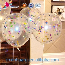 wholesale custom printed party transparent latex free helium balloon