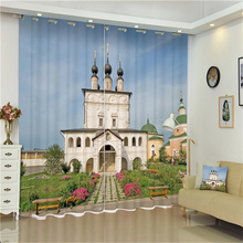 China Yiwu Luxury Fancy Dubai Indian Mosque Style 3D Blackout Decoration Window Curtain With Accessory