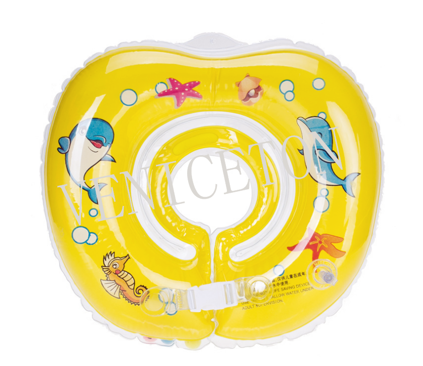 VENICETON Inflatable PVC Children Neck Ring Swimming Ring