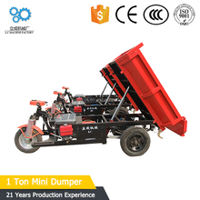 Factory supply the newst design widely use small dump truck/easy operation mini tipper for sale