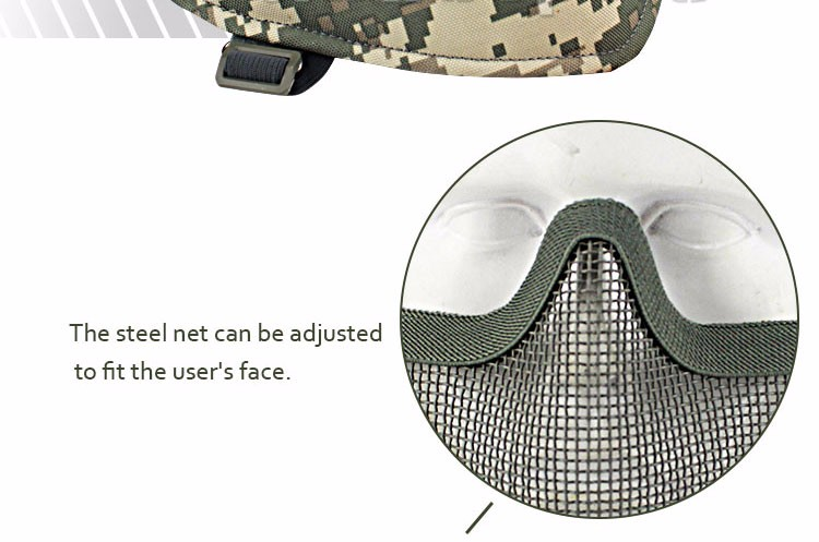 Wholesale Half Face Lower Metal Steel Tactical Paintball Mask