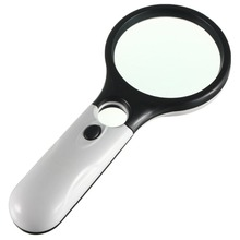 3X 45X Magnifying Glass 3LED Lights Magnifier With Light Great Elderly Gift Magnifying Glass for reading