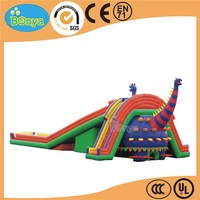 Hot new best selling dog inflatable kids slide