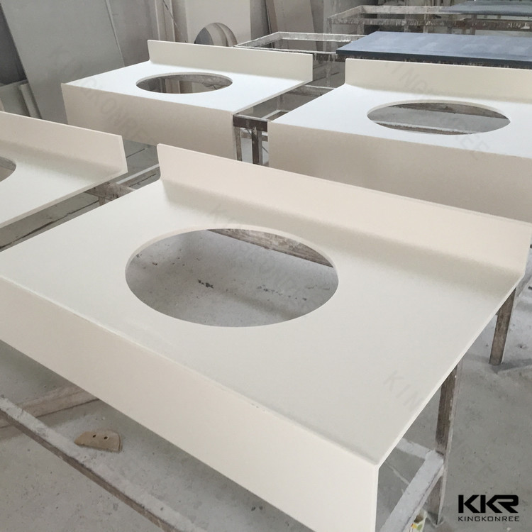 Prefabricated Man Made Stone Solid Surface Countertops