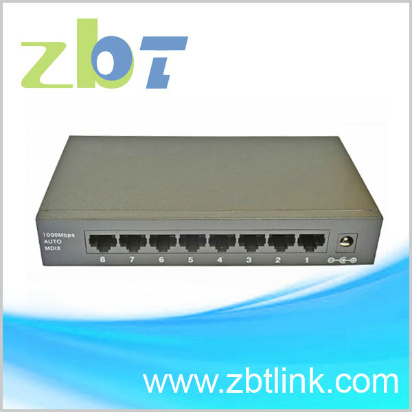 Gigabit Ethernet networking Switch with 8port