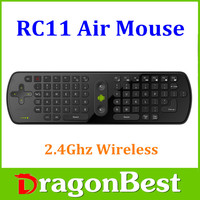 Newfangled 2016 2.4G Mini Wireless Air Mouse + Keyboard For Smart TV,TV Box Air Mouse RC11/RC12/T10 C120/MX3 C130