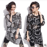 C62551A summer women long design female oversize blouse