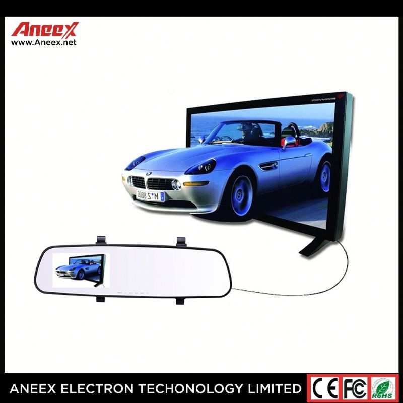 "New 1080P Car Rearview DVR 6.5"" Android 5.0 GPS Navigation WIFI FM Dual Lens Car Mirror Camera"