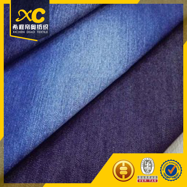 China manufacture cotton polyester spandex denim stock lot fabric