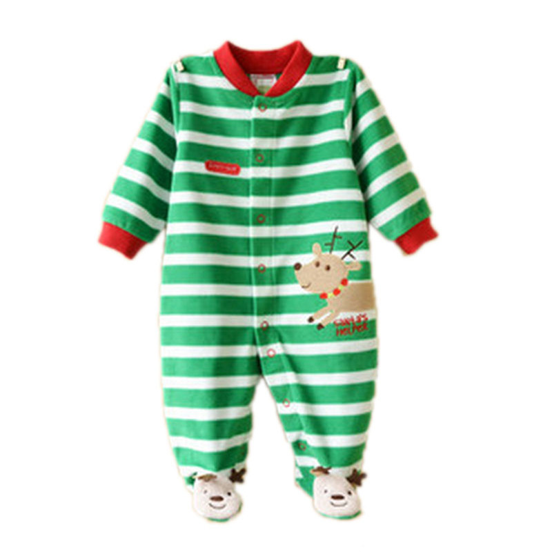 Mameluco Bebes 2015 Children Toddler Costume Baby Clothes Long-Sleeved Fleece Jumpsuit Animals Warm Baby Clothes Stripe Romper