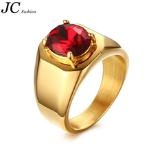 High Polished Stainless Steel 18K Gold Plated Men Ring Wholesale
