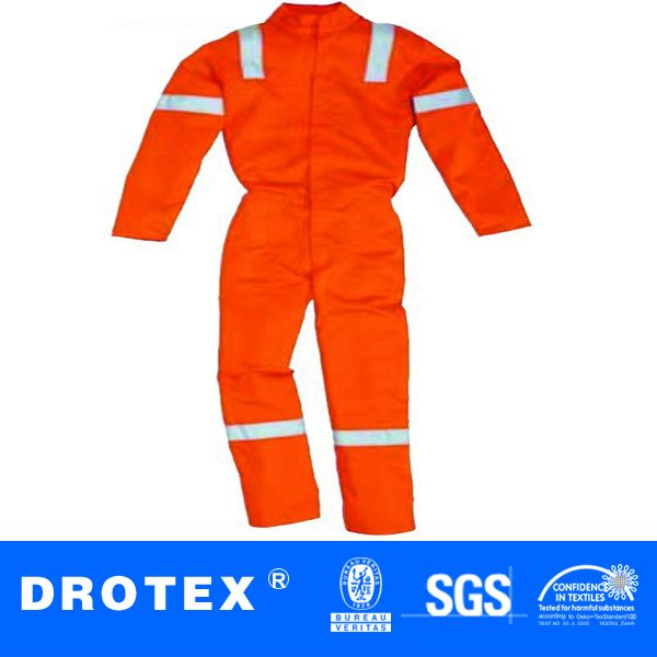 anti flame acid resistant work clothes with Reflective 3M Grey Tape