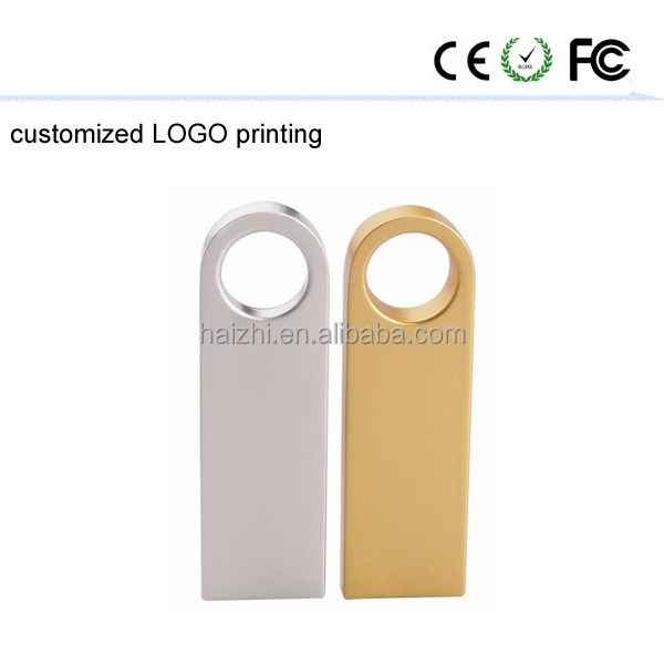 Promotional Gift Metal Card USB 2.0 thumb drive with logo