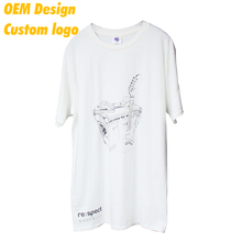 Direct Sale Luxury polyester cotton Silk screen print Small size custom hangtag White O- neck Male Shirt for couple