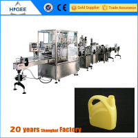 blank protein shaker bottle filling capping and labeling machine