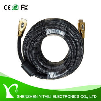 High Performance Gold Plated 1-50M customized Metal Shell/Plastic HDMI Cable With Ethernet Supports 1080P 3D 4K&2K