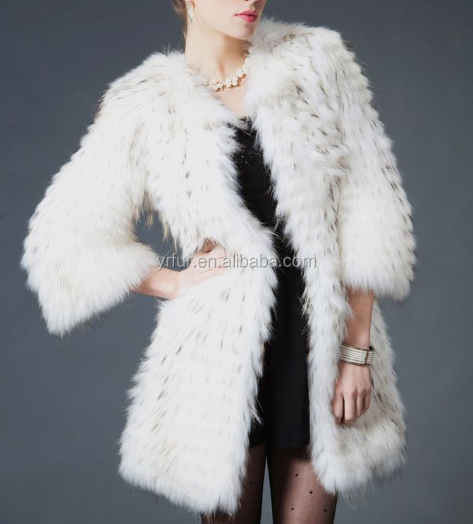 YR472A Genuine Fur Clothing/ <strong>3</strong>/4 Sleeve Hot Sale Raccoon Fur Clothing Women