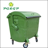 stainless steel swing top waste bin