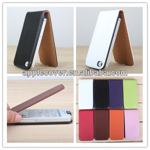 8color cool design PU leather for iphone4/4s case