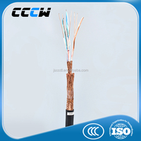 low voltage braid shield PVC sheath flexible twisted pair computer cable