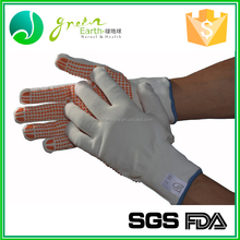 2016 Newest safety glove 13g nitrile gloves polyester