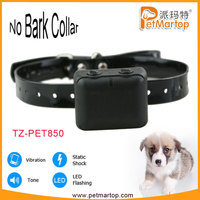 Vibration&shock Anti-Bark No Barking vibrator dog collar TZ-PET850