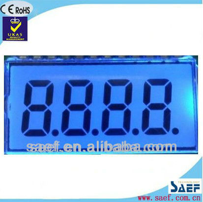 7 segment TN LCD Display customized