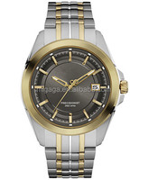 Silver-tone and gold-tone stainless steel strap watches for men 43mm