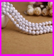 K5009 wholesale fashion natural white howlite turquoise stone beads