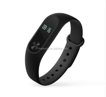2016 original Xiaomi Mi Band 2 Miband Wristband Bracelet with Smart Heart Rate Fitness Touchpad OLED