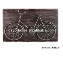 "2013 NEW 27.5""X18"" MDF Back Board and Bicycle Wall Plaque"