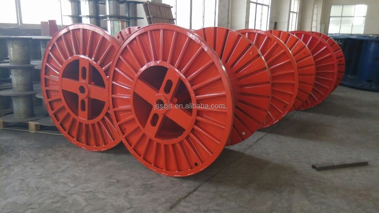 Large Empty corrugated steel reel cable drum for cables,pipe
