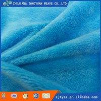 Polyester fabric price per yard soft polyester stuffed toys velour fabric wholesale