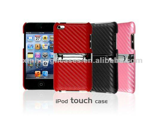 Mobile phone leather pu case back covers for iPod touch 4/ iTouch 4