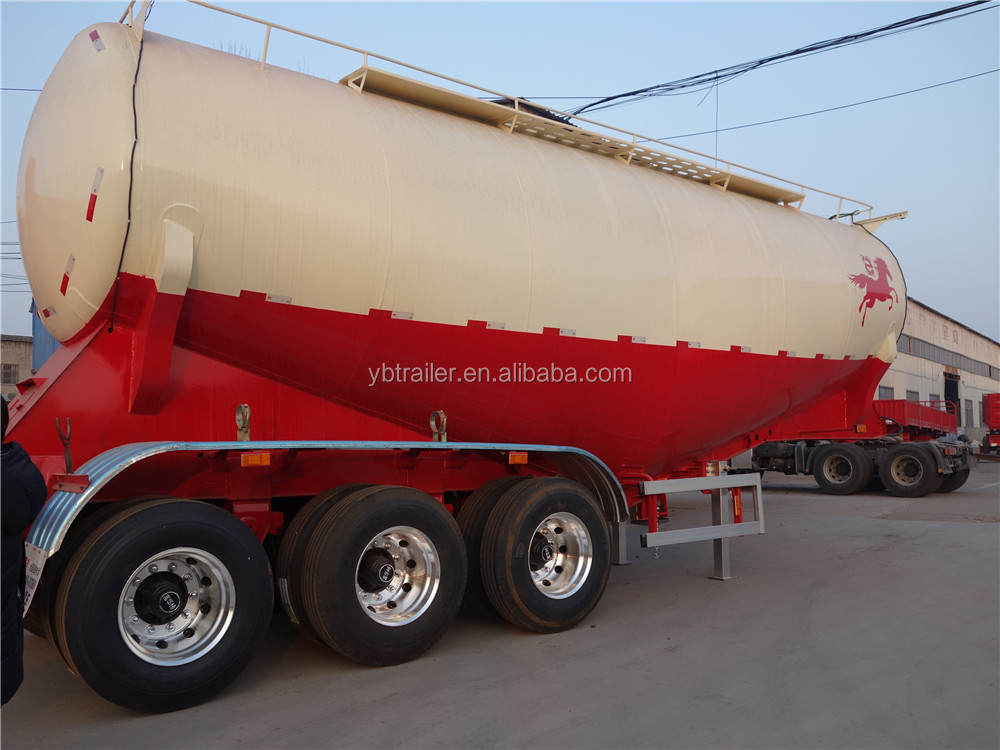 China manufacture bulk cement silo tank semi trailer truck powder trailer for sale