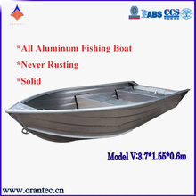 China Hot Sale Customized Deep-v welded Steering Aluminum Fishing Boat With CE