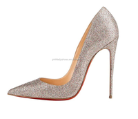 JUSHEE 2016 china alibaba lady shoes blingbling 16cm heels for sexy crystal high heel shoes