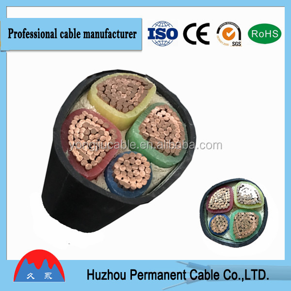0.6/1KV 0.6/1KV free sample 3X50MM2 xlpe insulation steel tape armored power cable from ningbo port