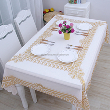 WT 1801 PVC Plastic Gold Table Cloth 137x180cm Washable Tablecloth Rectangular