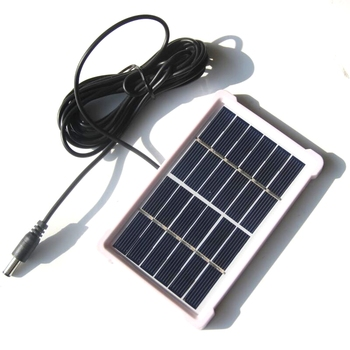 Smart Electronics~Polycrystalline 6W 3W 1W 6V Solar Panel Mini Solar Cell With DC5521 Cable For 3.7V Battery Charger System