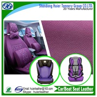 pvc car seat leather coated soft garment leather