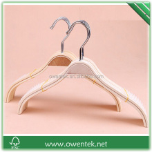 Plywood clothes hanger for shirt/porcelain color laminated clothes hanger
