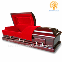solid mahogany solid mahogany wood furniture red color casket