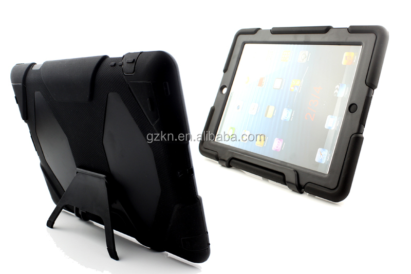 Military -duty case with screen protector for Apple iPad 2 iPad 3 iPad 4