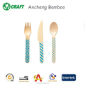 Dsiposable bamboo/wooden utensil set wood compostable cutlery