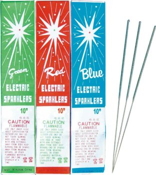 "10"" COLOR SHAPE SPARKLERS FIREWORKS INDOOR SPARKLERS"