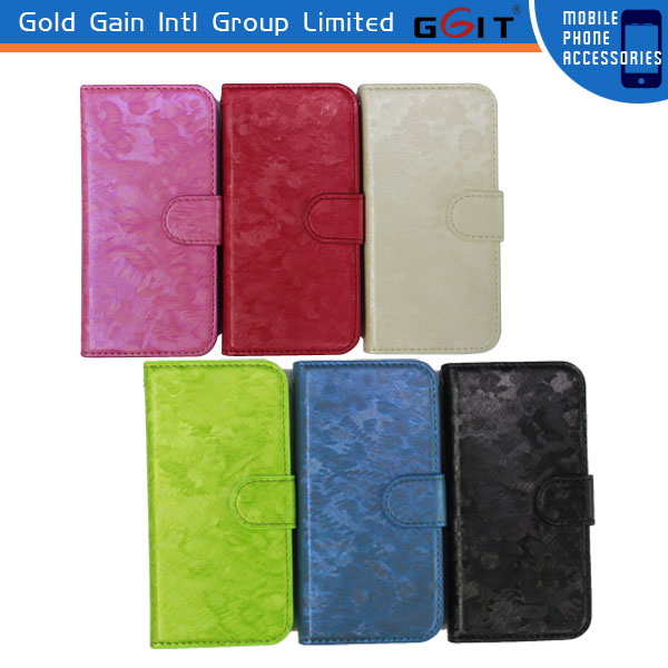 Latest design hot leather Wallet flip case For iPhone 5S