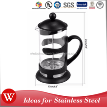 French Press Coffee Maker, 34-Ounce, Black Coffee Unbreakable Plastic French Press