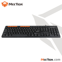 Simple design Cost-effective Multimedia USB Corded Computer Keyboard with quiet and precise keystroke