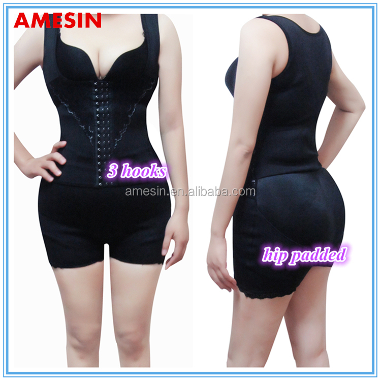 AMESIN Underwear With Padded Bum Sexy Extra Large Front Cincher Corset For Women
